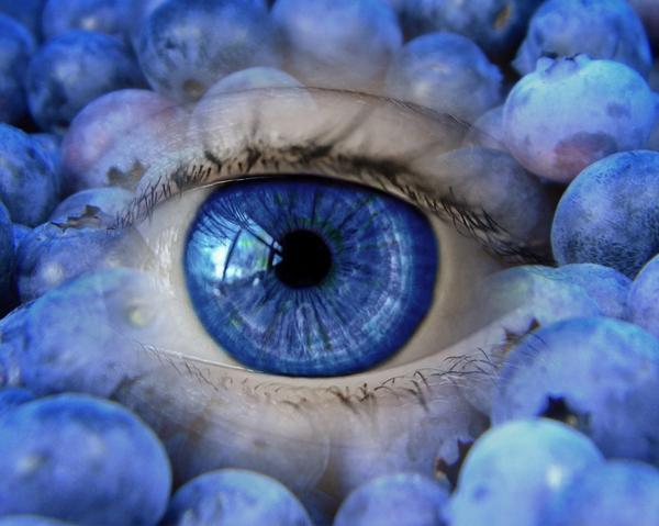Blåbär och öga - blåbärsextrakt mot synproblem.