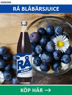 Köp RÅ Blåbär - blåbärsjuice av blåbär från de svenska skogarna